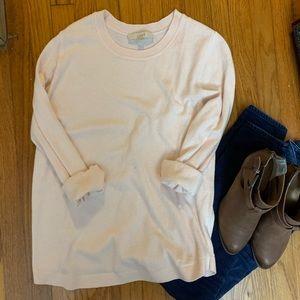 LOFT soft pink sweater EUC